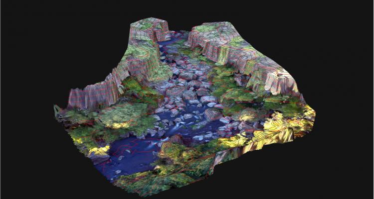 Digital Terrain Model of the Upper Barrier Reach