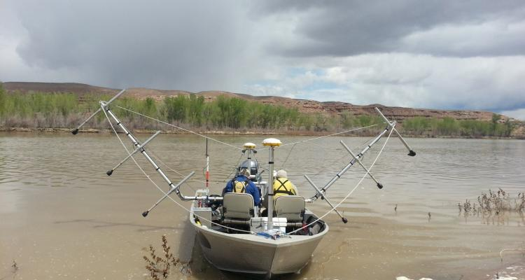 19-ft jet boat and 8-Channel Sonar Sweep System