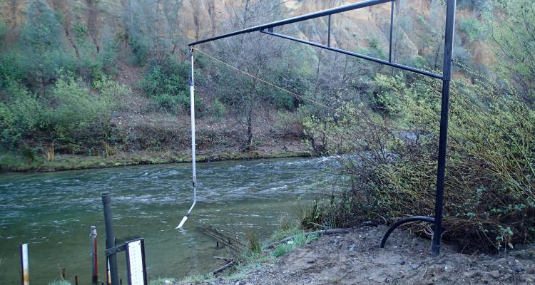 GMA streamflow and turbidity station along Clear Creek
