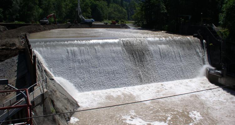 Marmot Dam site July 2007