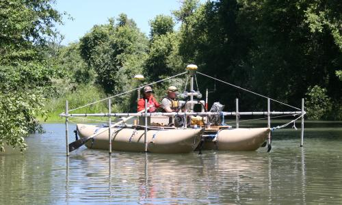 19-ft cataraft and 7-Channel Sonar Sweep System